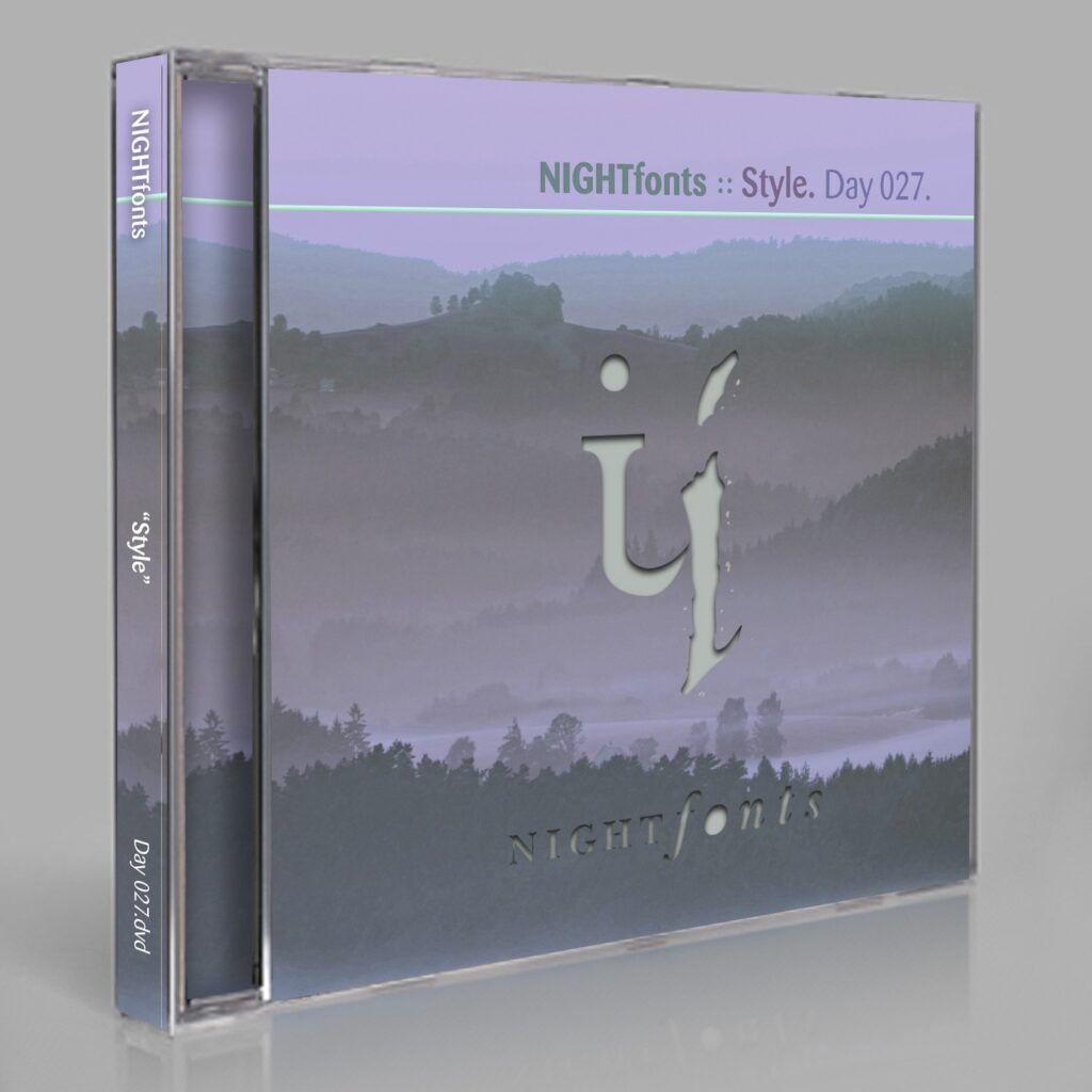"""NIGHTfonts """"Control"""" Day 027.cd / download"""