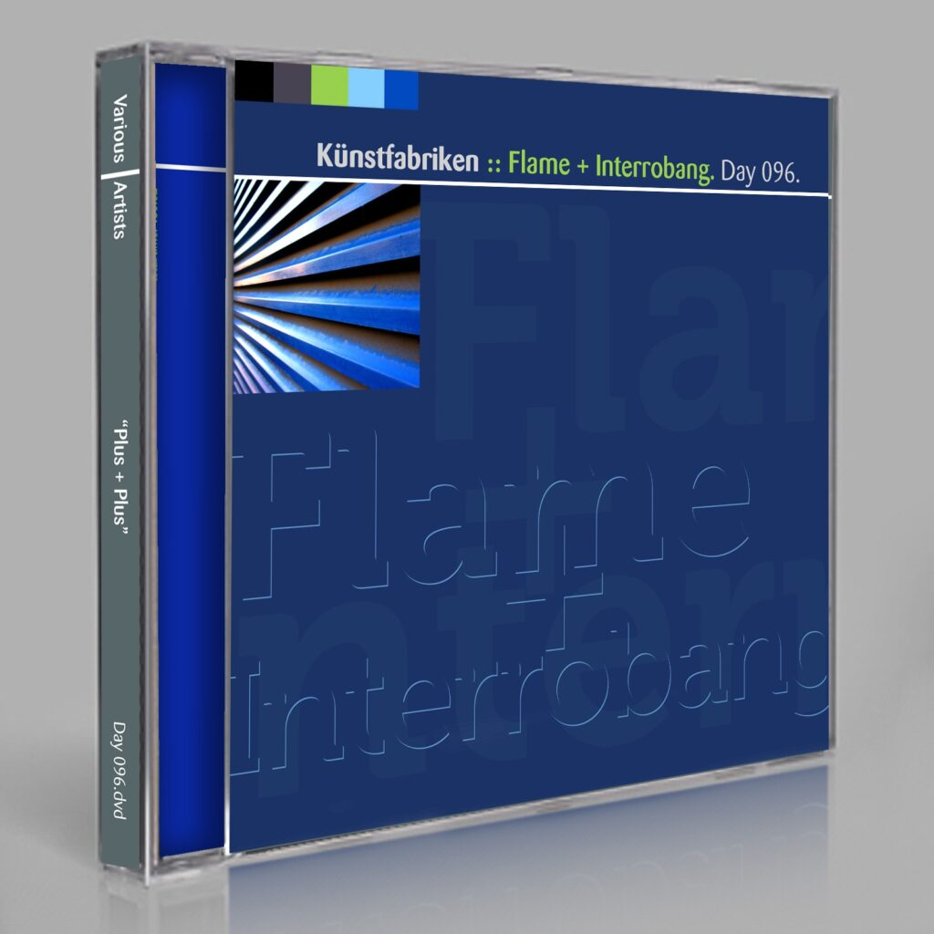 "Künstfabriken ""Flame + Interrobang"" (Jupiter Jenkins, Eric Scott/Day For Night, and Peter Moraites) Music Songs White Labels Scores Composition Day 096.cd / download"