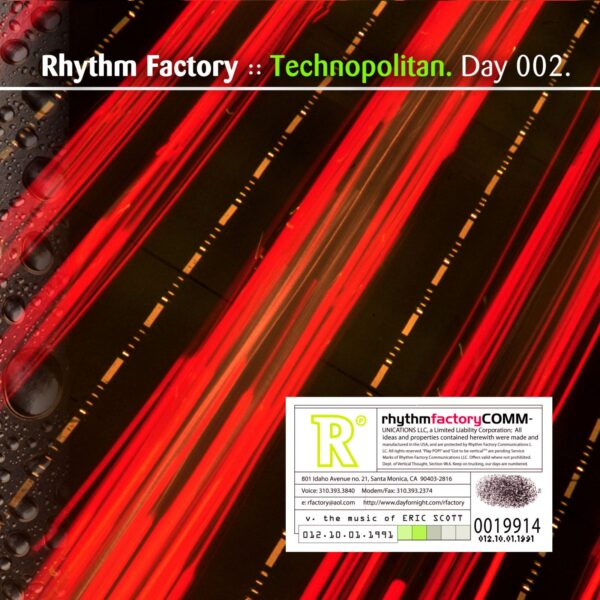 "Rhythm Factory (Eric Scott) ""Technopolitan"" Day 002.cd / download"